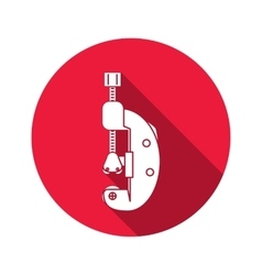 Cutter bolt clamp clutch cramp icon Repair vector image
