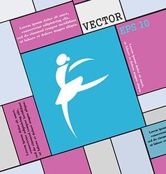Dance girl ballet ballerina icon sign modern flat vector