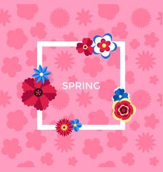 digital pink flowers set vector image vector image