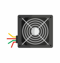 flat hardware power supply icon for repair service vector image vector image