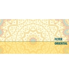 Flayer template design in yellow color abstract vector