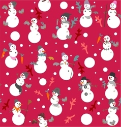 Funny snowmen s with buckets boots gloves vector