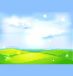 horizontal natural background with blue sky vector image