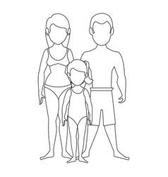 isolated cute beach family vector image
