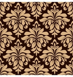 Light brown floral seamless pattern vector image vector image