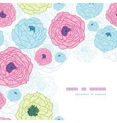 Lovely flowers corner seamless pattern background vector image vector image