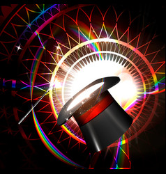 magic hat on a bright background vector image vector image
