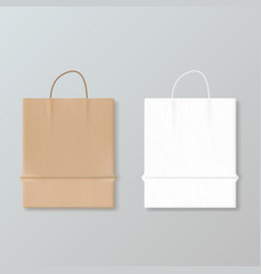 New empty paper shopping bag for advertising and vector