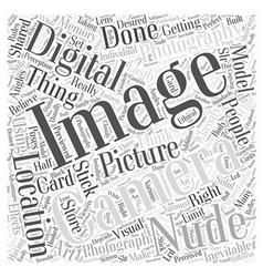 nude digital photography Word Cloud Concept vector image vector image
