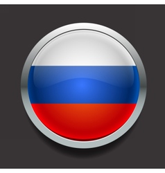 Round flag of Russia vector image vector image