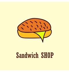 Sandwich logo template vector