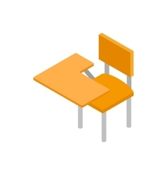 School desk icon isometric 3d style vector image
