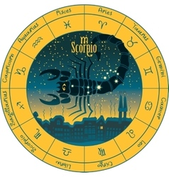 Scorpio signs of the zodiac vector