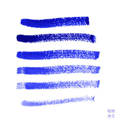 set of blue indigo watercolor hand painted stripes vector image vector image