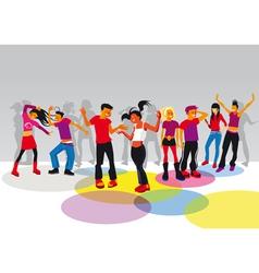 teenagers dancing vector image