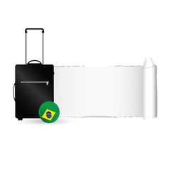 Travel bag with tearing paper color vector