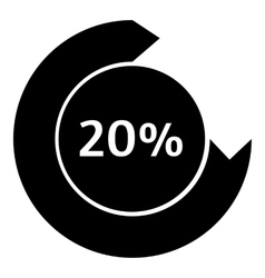 Twenty percent download internet icon vector