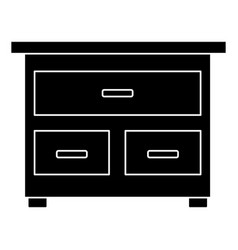 Wooden drawer funiture vector