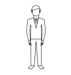 Newly married man character vector image