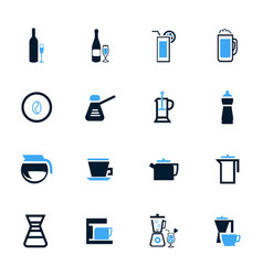 Utensils for beverages icons set vector