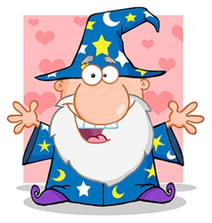 Friendly Wizard With Open Arms vector image