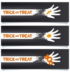 Halloween creative banners template vector