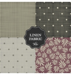 Set of for linen fabric vector