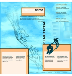 Business help template vector
