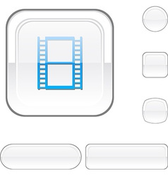 Cinema white button vector