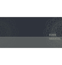 Ornamental flayer template design in grey color vector