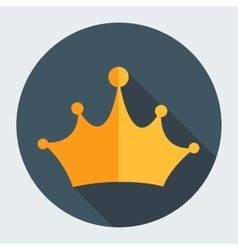 Gold flat design crown vector