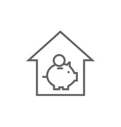 House savings line icon vector