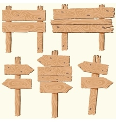 set of wooden planks vector image