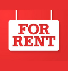 For rent banner vector