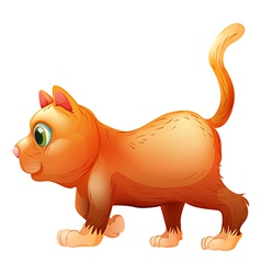 A sideview of a fat cat vector