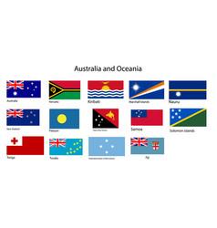 Australia and oceania flags vector