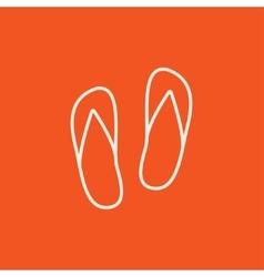 Beach slipper line icon vector image