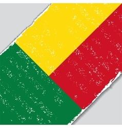 Benin grunge flag vector