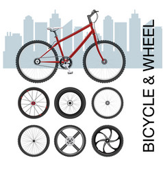 Bicycle wheel set vector