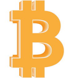 bitcoin icon cryptocurrency and blockchain symbol vector image