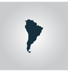 Black map of south america vector image