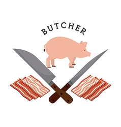 butcher concept vector image