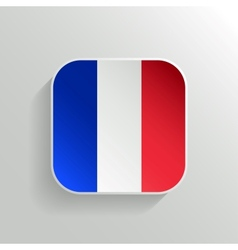Button - France Flag Icon vector image vector image