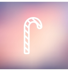 Candy cane thin line icon vector image
