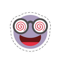 Cartoon emoticon crazy april fools day vector