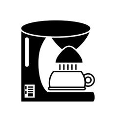Coffee machine appliance kitchen outline vector