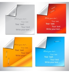 Colorful paper stickers and notes vector image
