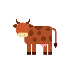 Cow animal isolated icon vector