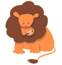 Cute lion animal character vector