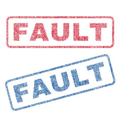 Fault textile stamps vector